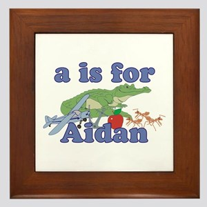 A is for Aidan Framed Tile
