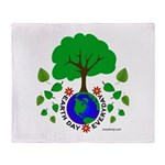 Earth Day Everyday Throw Blanket