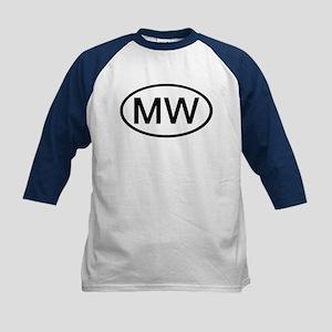 MW - Initial Oval Kids Baseball Jersey