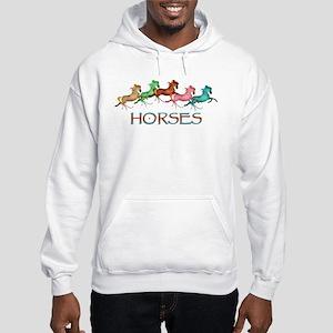 many leaping horses Hooded Sweatshirt