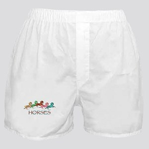 many leaping horses Boxer Shorts