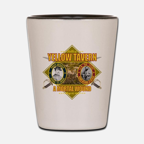 Yellow Tavern Shot Glass