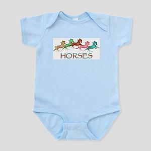 many leaping horses Infant Creeper