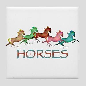 many leaping horses Tile Coaster