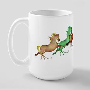 many leaping horses Large Mug