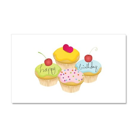 Birthday cupcakes Car Magnet 12 x 20