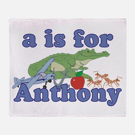 A is for Anthony Throw Blanket