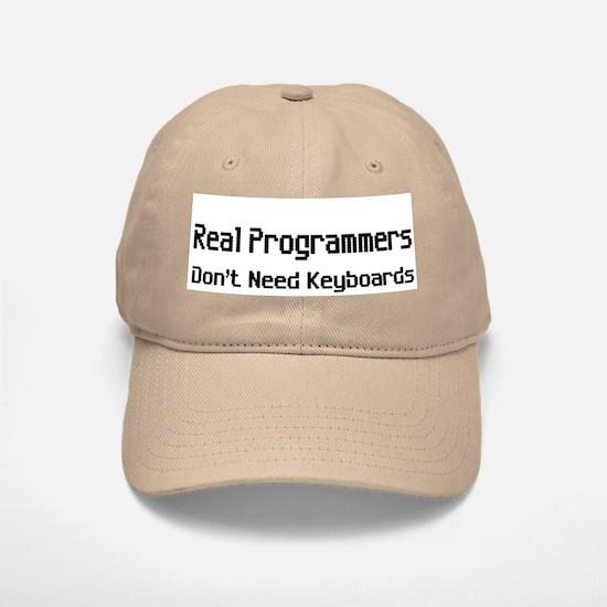 Real Programmers Don't Need K Baseball Baseball Cap