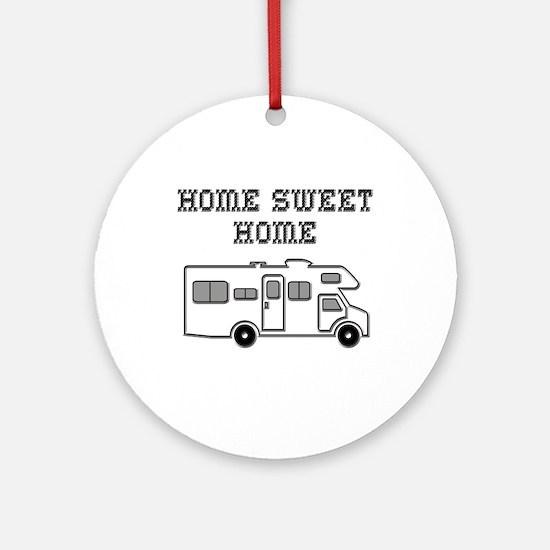 Home Sweet Home Mini Motorhome Ornament (Round)