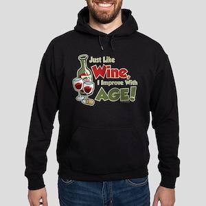Wine Improve With Age Hoodie (dark)