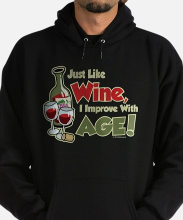Wine Improve With Age Hoodie (dark)