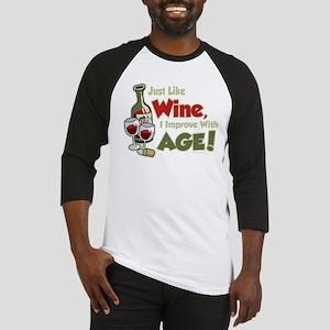Wine Improve With Age Baseball Jersey