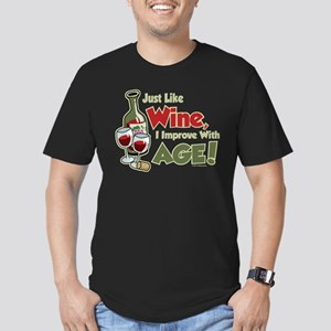 Wine Improve With Age Men's Fitted T-Shirt (dark)