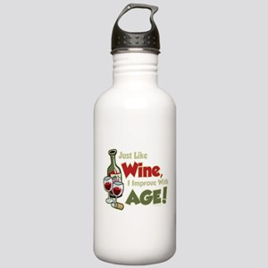 Wine Improve With Age Stainless Water Bottle 1.0L