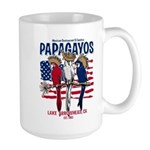 Patriotic Parrots Large Mug