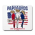 Patriotic Parrots Mousepad