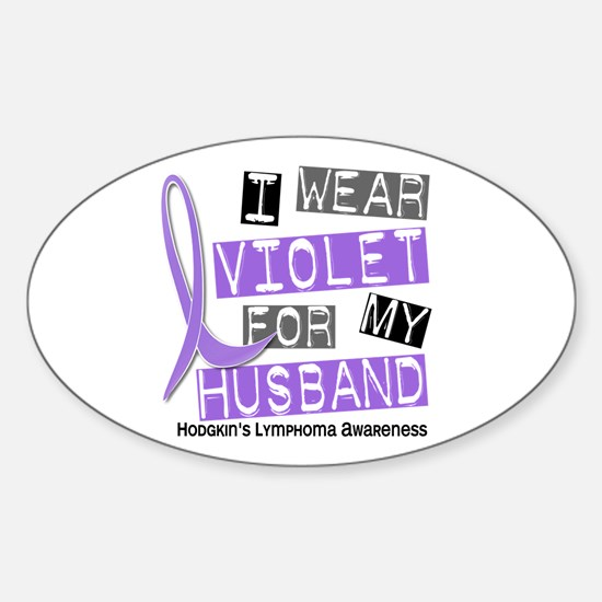 I Wear Violet 37 Hodgkin's Lymphoma Sticker (Oval)