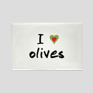 I Love Olives Rectangle Magnet