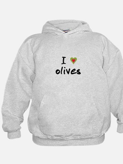 I Love Olives Hoodie