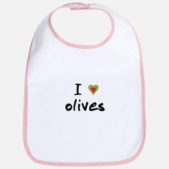 I Love Olives Bib