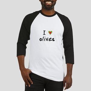 I Love Olives Baseball Jersey