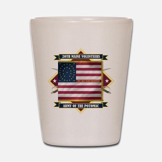 20th Maine V.I. Shot Glass