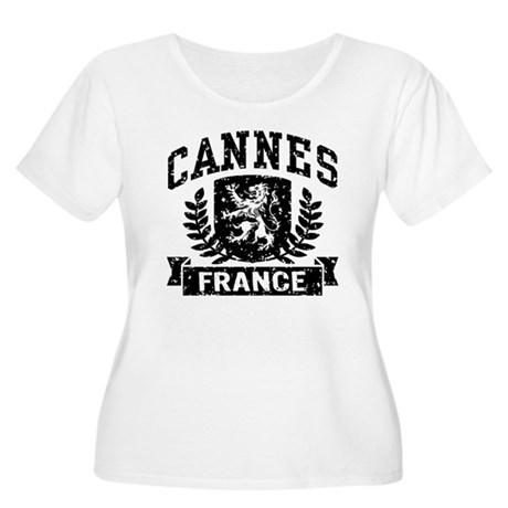 Cannes France Women's Plus Size Scoop Neck T-Shirt