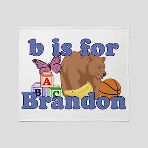 B is for Brandon Throw Blanket