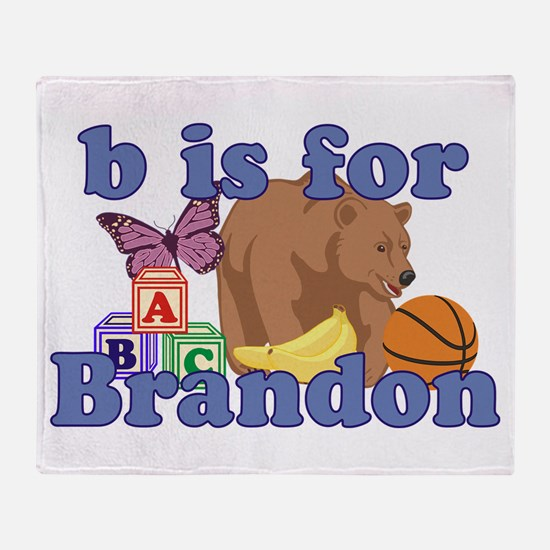 B is for Brandon Throw Blanket