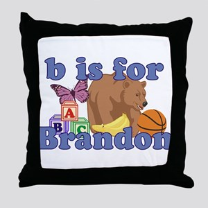 B is for Brandon Throw Pillow