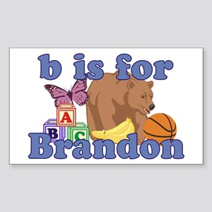 B is for Brandon Sticker (Rectangle)