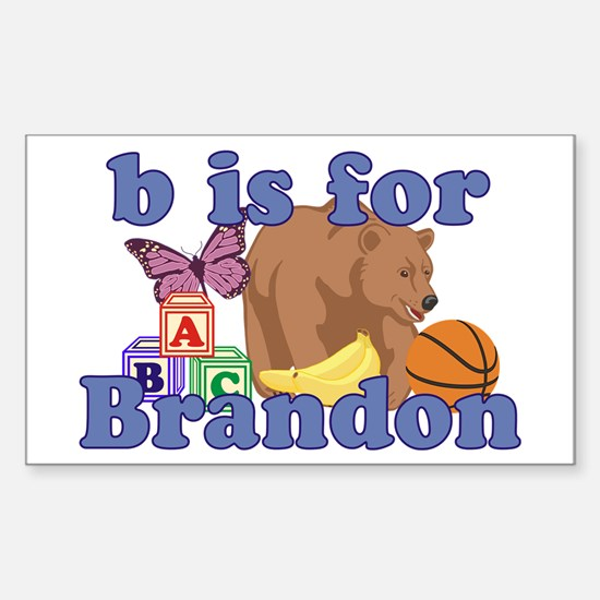 B is for Brandon Sticker (Rectangle)
