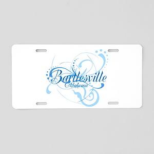 Bartlesville, Oklahoma Aluminum License Plate
