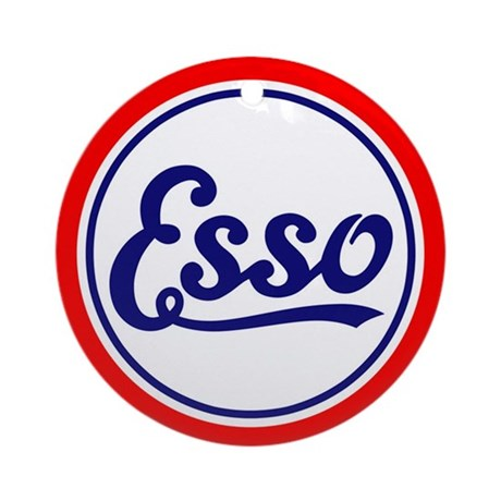 Esso Gasoline Ornament (Round)