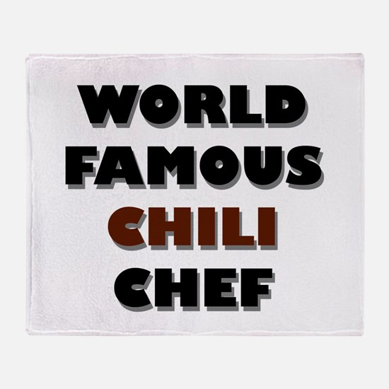 World Famous Chili Chef Throw Blanket