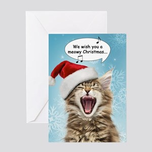 Singing Cat Christmas Card