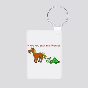 Have you seen this Horse? Aluminum Photo Keychain