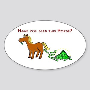 Have you seen this Horse? Sticker (Oval)
