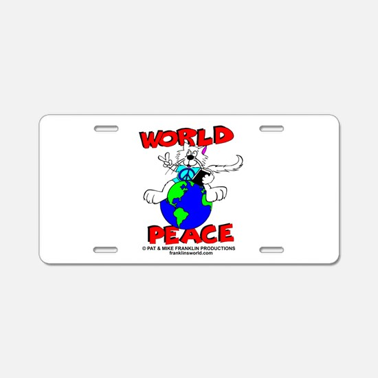 WORLD PEACE CAT-ALL PRODUCTS Aluminum License Plat