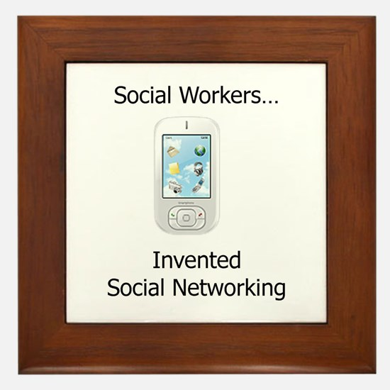 Cute Social networking Framed Tile