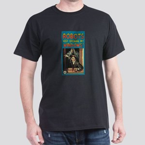 Robots Open My Windows Dark T-Shirt