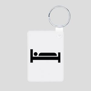 Bed Image Aluminum Photo Keychain