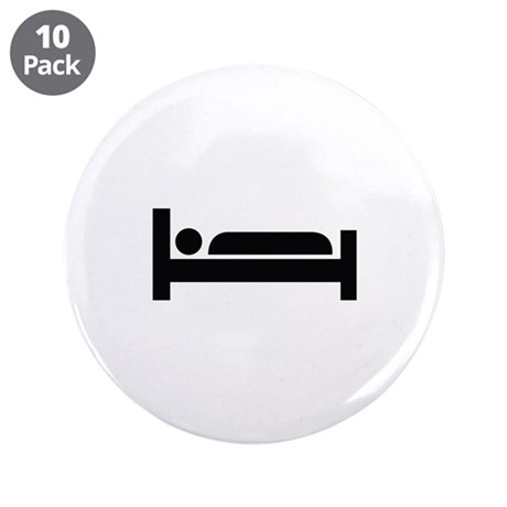 """Bed Image 3.5"""" Button (10 pack)"""