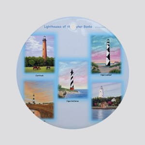 Lighthouses Of The Outer Banks Ornament (round)