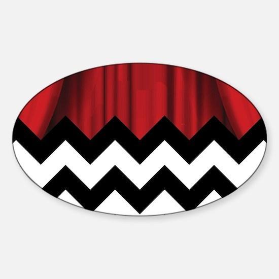 Unique Zig zag Sticker (Oval)