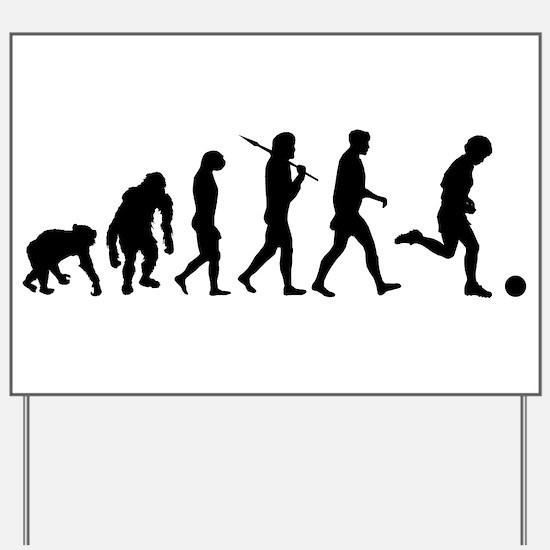 Evolution of Soccer Yard Sign