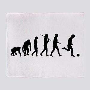 Evolution of Soccer Throw Blanket