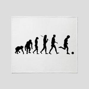 Evolution of Soccer Throw Blanket
