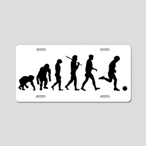 Evolution of Soccer Aluminum License Plate