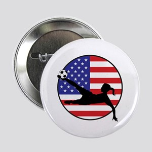 "US Women's Soccer 2.25"" Button"